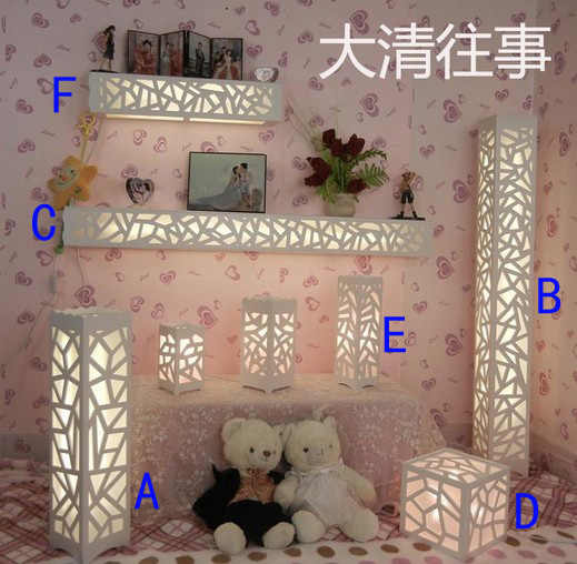 Fashion decoration ofhead modern brief carved floor lamp wall lamp