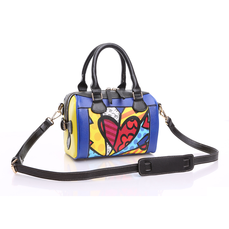 ROMERO BRITTO  New  Fashion Women Handbags Diagonal Small Bags Pillow Bags Shell