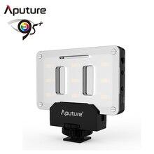 Aputure LED Video Işık pockable AL-M9 TLCI/CRI 95 + on-kamera dolgu ışığı 9 adet SMD ışıkları cep büyüklüğünde Tiny LED Aydınlatma