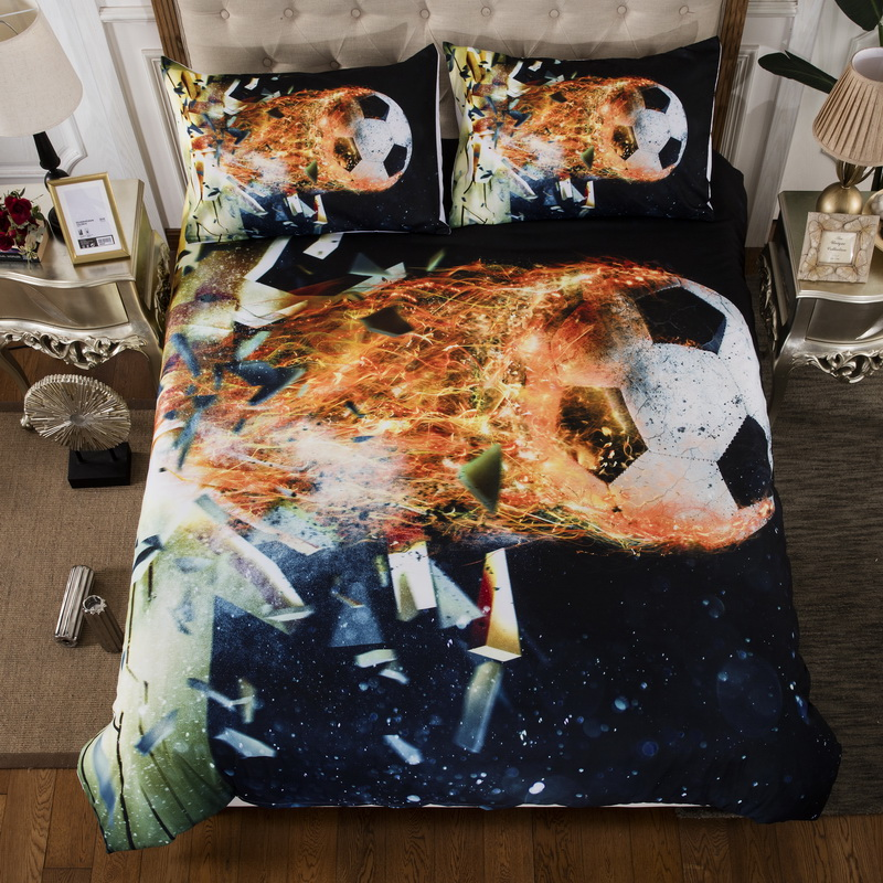 Football Basketball 3d Bedding Set Queen Size Soccer Duvet Cover Pillowcase United States United Kingdom King Queen Twin Size