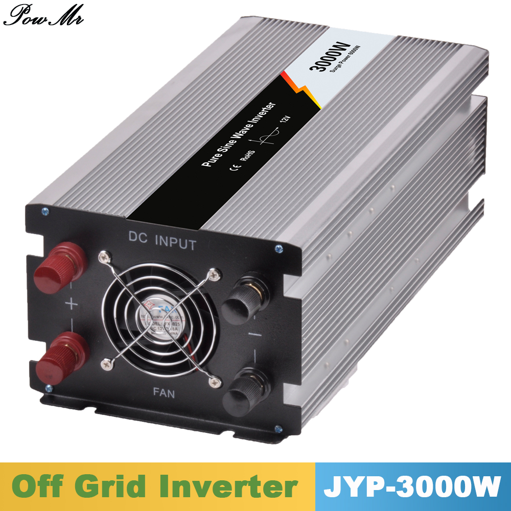 3000W 12V/24V/48V DC Input 110V/220V AC Output Pure Sine Wave Off Grid Tie Inverter Microprocessor Based Design Home Inverter free shipping 600w wind grid tie inverter with lcd data for 12v 24v ac wind turbine 90 260vac no need controller and battery