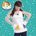 Anime Natsume Yuujinchou Nyanko Sensei Cat Cosplay Costumes Sleeveless Hoodies Jacket Unisex Embroidery Hooded Sweatshirt Coat
