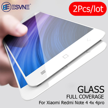 ESVNE 2Pcs/lot Protective Glass For Xiaomi Redmi 4x glass Screen Protector Flim 9H On Note 4 Tempered