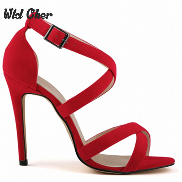 fb35c1844a652 2017 New High-heeled Shoes Woman Pumps Wedding Shoes Platform Fashion Women  Shoes Red High Heels 11cm Suede Strip Free Shipping