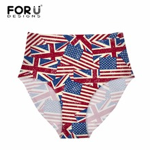 9b2fe4b6a FORUDESIGNS 3D Novelty Flag Pattern Underwear Women Female Summer  Breathable Panties High-rise Body Shaping