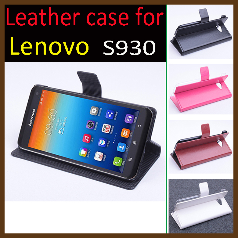 For Lenovo S930 Case!!High Quality Luxury Leather Flip Cover Cases For Lenovo S 930 Mobile Phone with Wallet 4 colour In Store ...