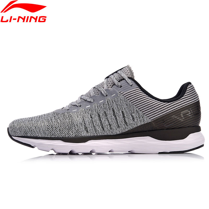 Li-Ning 2018 Men ACE RUN Light Running Shoes Cushion Breathable Li Ning Wearable Anti-Slippery Sports Shoes Sneakers ARBN007 li ning professional badminton shoe for women cushion breathable anti slippery lining shock absorption athletic sneakers ayal024
