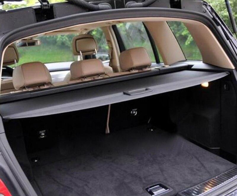Couverture de cargaison de style de voiture bouclier de sécurité coffre arrière bagages couverture d'étagère de colis noir pour mercedes-benz GLK X204 2008-2015