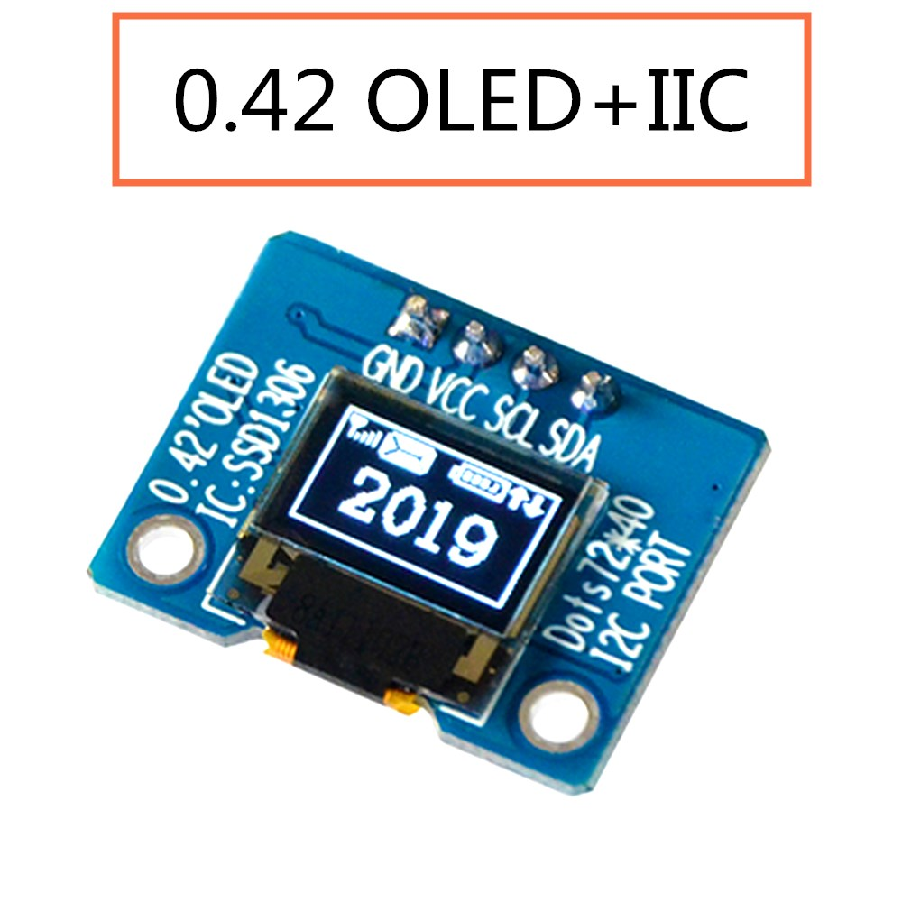 0.42 Inch Oled Display LCD Screen Module Serial Screen Module Spi/iic Interface SSD1306 16PIN Microcontroller
