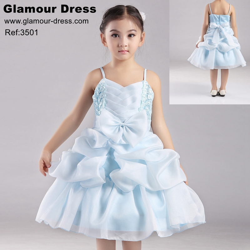 9ca385963 Cotton Lining Girl Party Dress Organza Pageant Ball Gown For Kids 4 ...