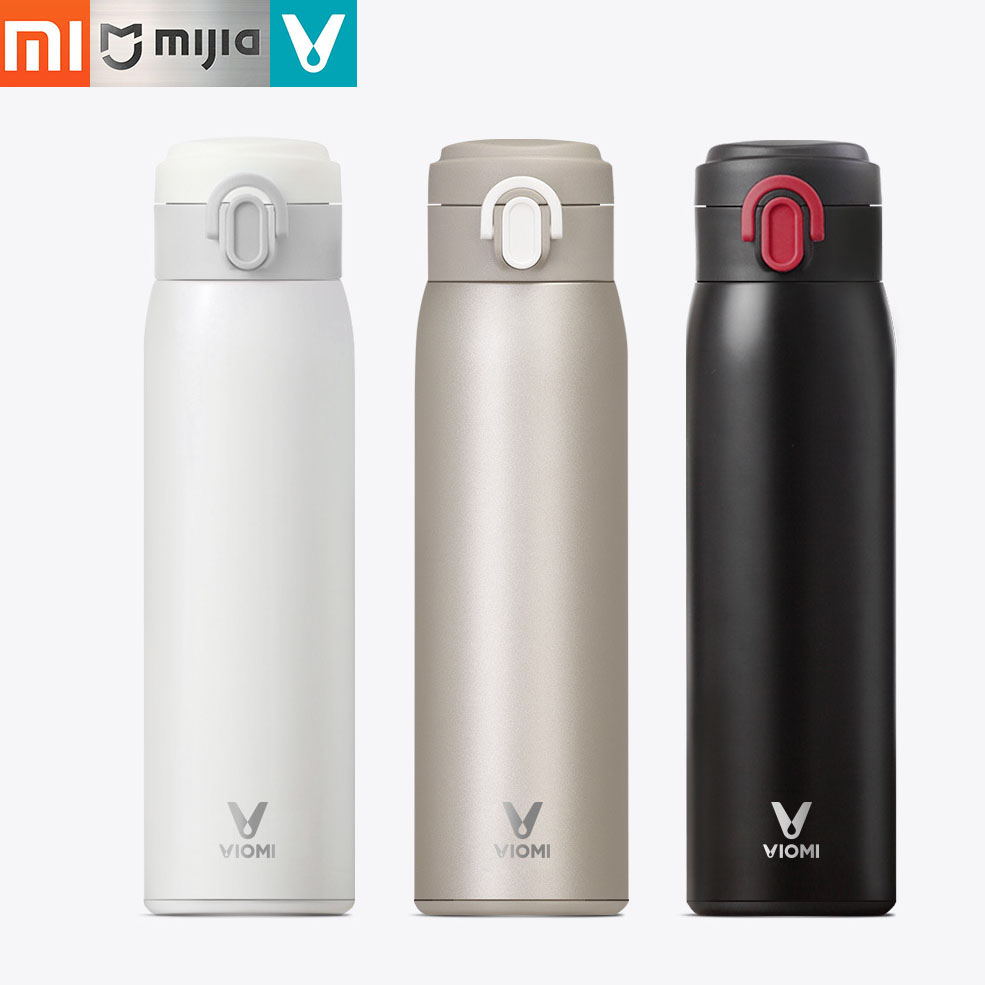 Xiaomi Mijia VIOMI 460ml Thermal Cup Cool Keeping Cup Vacuum Flask Heat Water Mug Thermos Insulated Stainless Steel Travel Cup