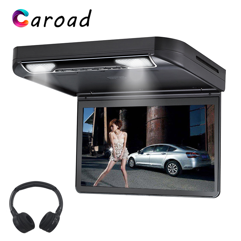 Car DVD Player 13.3 Inch Roof Mount Monitor Flip Down Full HD 1080P Digital TFT Wide Screen USB/SD/HDMI/MP5/IR/FM Screen For Car(China)
