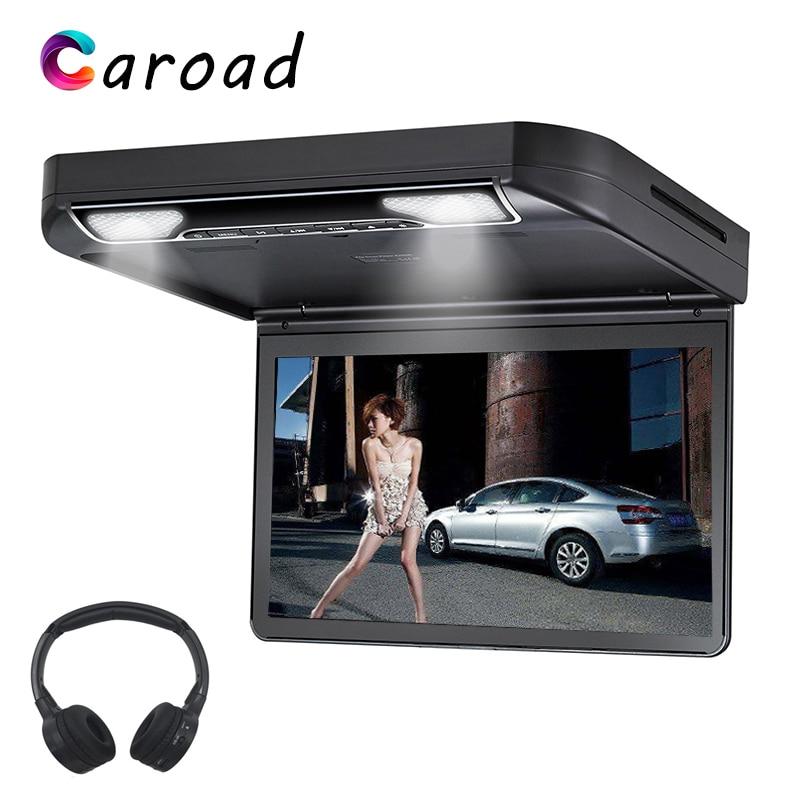 Car DVD Player 13.3 Inch Roof Mount Monitor Flip Down Full HD 1080P Digital TFT Wide Screen USB/SD/HDMI/MP5/IR/FM Screen For Car|Car Monitors| |  - title=