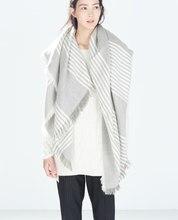 za Brand Scarf Fashion Women 2016 Winter Wool Blend Thicken Warmth Soft Scarf Big Shawls ym-5302