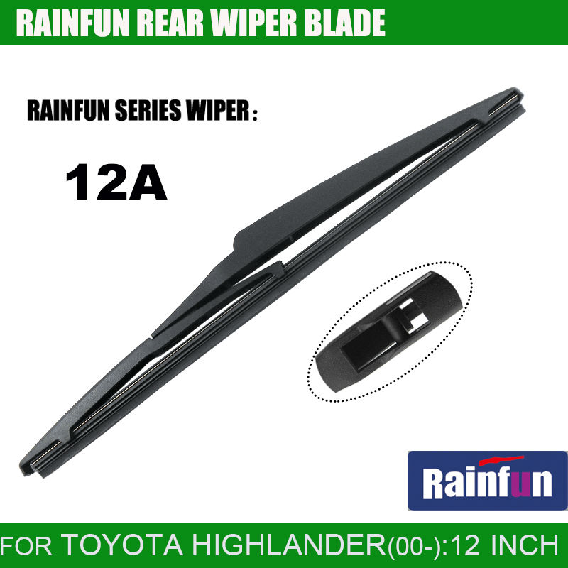 RAINFUN 12A dedicated rear wiper blade for TOYOTA HIGHLANDER, 12 rear wiper blade for TOYOTA highlander