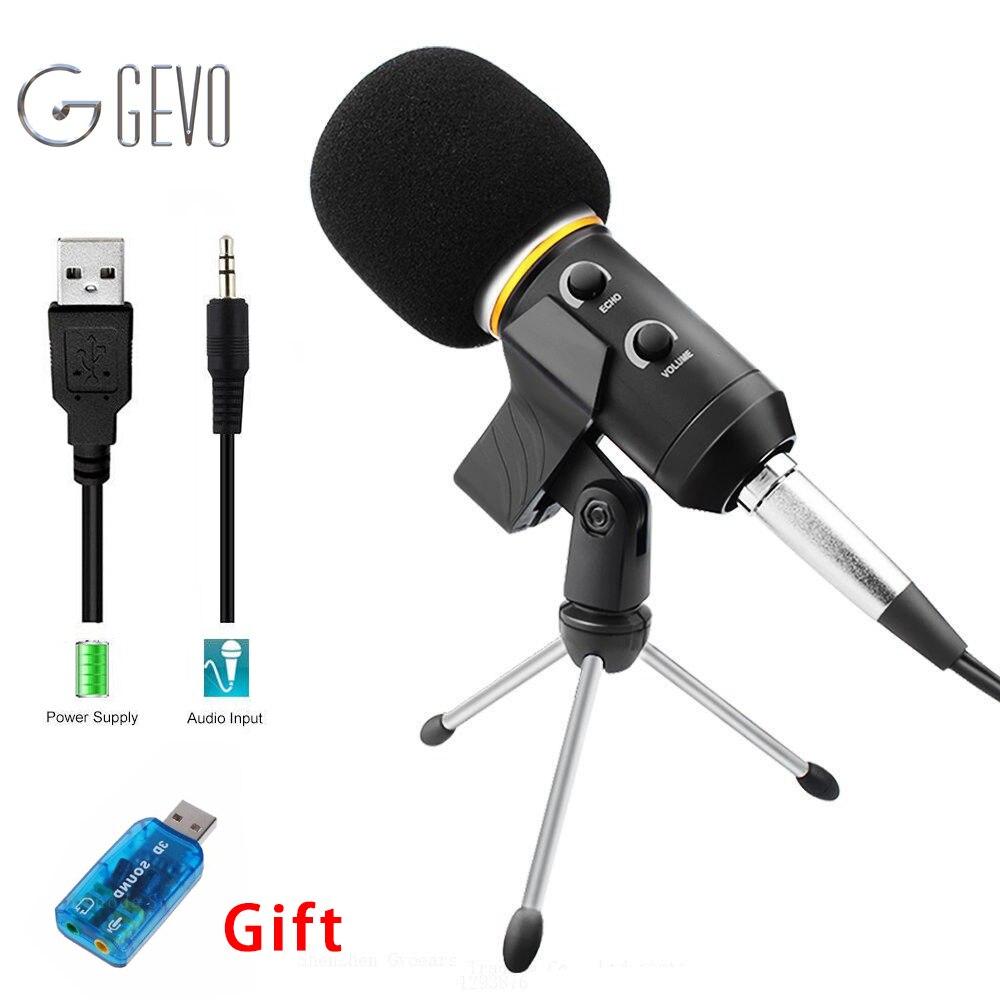 MK-F200FL Gravação Profissional Microfone Com Fio Microfones Com Tripé Para Computador Karaoke Mikrofon Microfone Condensador USB