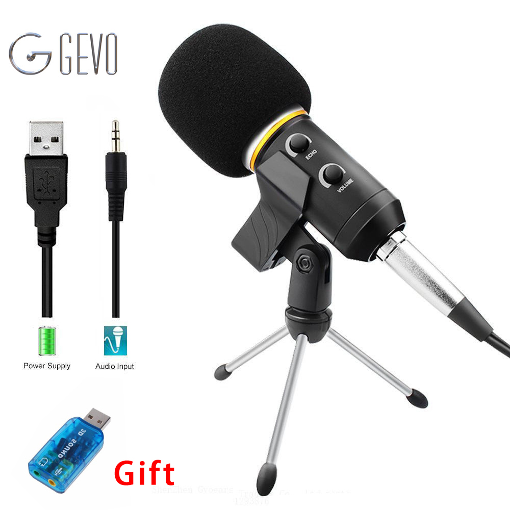 MK-F200FL Professional Microphone Wired Recording USB Condenser Microphones With Tripod For Computer Karaoke Mikrofon Microfone dicsong dm 10 condenser microphone with tripod