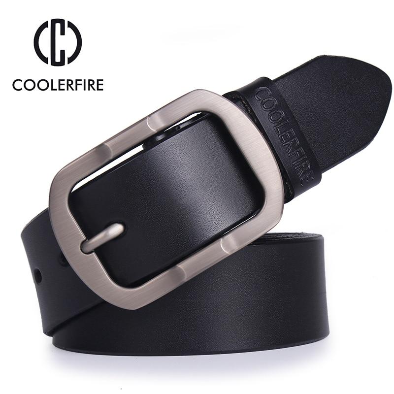 Men's Genuine Leather Belt Designer Belts Men High Quality Luxury Strap Male Belts For Men Fashion Vintage Pin Buckle For Jeans
