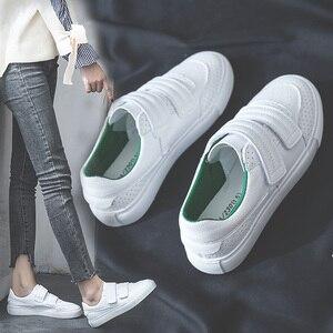 Image 3 - Женские кроссовки SWYIVY, Белые Повседневные кроссовки на платформе, с петля на заднике кроссовок и петлей, осень 2019
