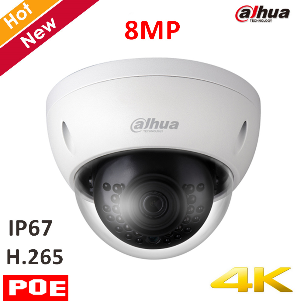Original Dahua 4k 8mp IP Camera IPC-HDBW4830E-AS 8MP IR Dome Security Camera H.265 4mm fixed lens IR distance 30m Support POE зимняя шина nokian hakkapeliitta 8 suv 265 50 r20 111t