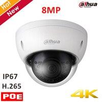 Original Dahua 4k 8mp IP Camera IPC HDBW4830E AS 8MP IR Dome Security Camera H 265