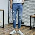 slim fit casualdistressed jeans pants vaqueros hombre Men Jeans New arrival brand fashion design ripped denim trousers for man