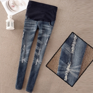 Ripped denim maternity jeans – Global fashion jeans collection