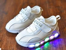 AI LIANG Fashion Led Shoes For Kids Boys Girls Luminous Shines Breathable  Spring Led Kids Sneakers 2c550f382adf