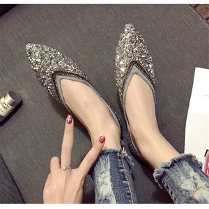 Image 4 - SWYIVY Womants Flats Shoes Rhinestone Autumn Spring New Female Luxury Crystal Casual Shoes Pointed Toe Comfortable Flats 40 Size