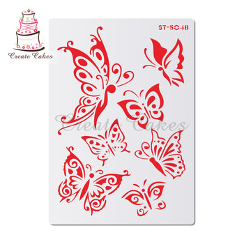 Butterflies Stencils For Walls Painting Scrapbooking Stamp Album Decorative Embossing DIY Craft Paper Card Flower Template image