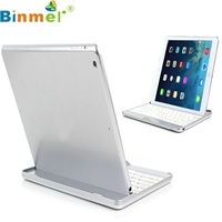 Binmer Mecall Tech Silver Aluminum Bluetooth Stand Keyboard Case Dock For Apple For IPad Air 5
