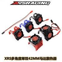 rc car part motor radiator motor heat sink high speed fan metal 2 seat fit motor diameter 42mm 1515 1512 812 K80 K82 4274