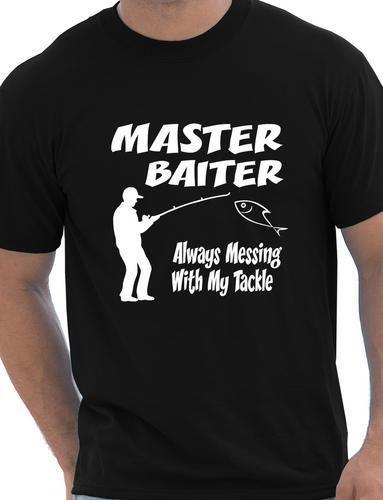 Master Baiter Funny angler camiseta Rude Camiseta para hombre Más - Ropa de hombre