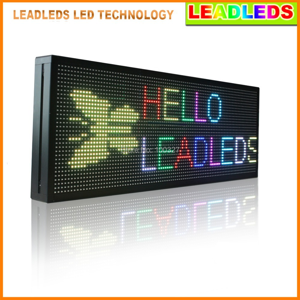 39inchP10 Indoor Advertising Led Sign With Rgb 7 Color, Programmable And Scrolling Message