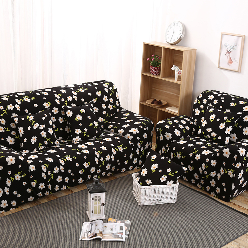 Elastic Sofa Covers Daisy Printed Couch Seat Slipcovers Protector for Living Room Office Home Furniture Decoration Mother Gifts