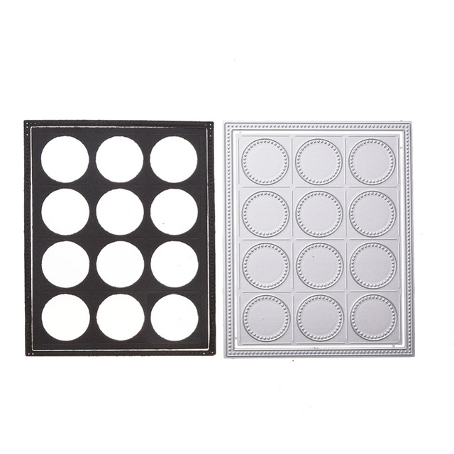 Adv one Make up eye shadow box Metal Dies Cut Cutting die Scrapbooking 2018  Carbon Die Cut Embossing Stencils Photo Card Decor-in Cutting Dies from