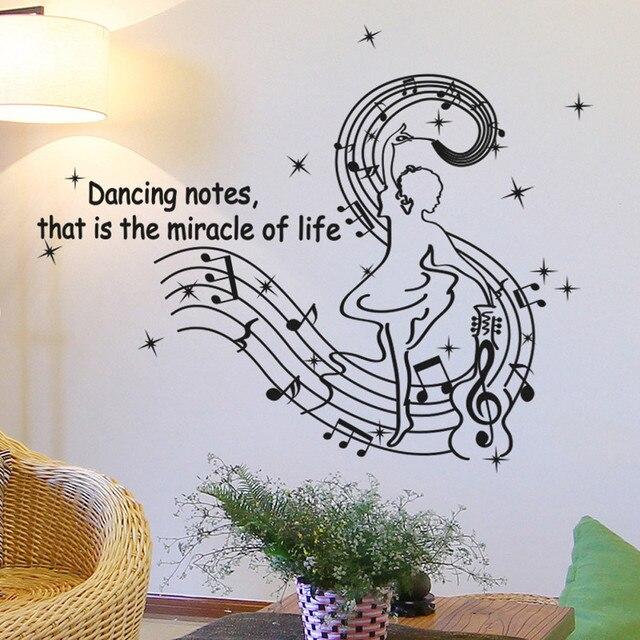 Comprar etiqueta de la pared danza notas - Pegatinas para las paredes ...
