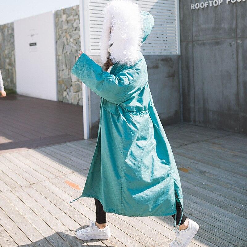 Femmes blanc Col Noir M 6 army gris Épaisse bleu S Gratuite D'hiver Longue rose 2017 Green Couleurs L Fourrure De Livraison Grand Veste qB7Cw8