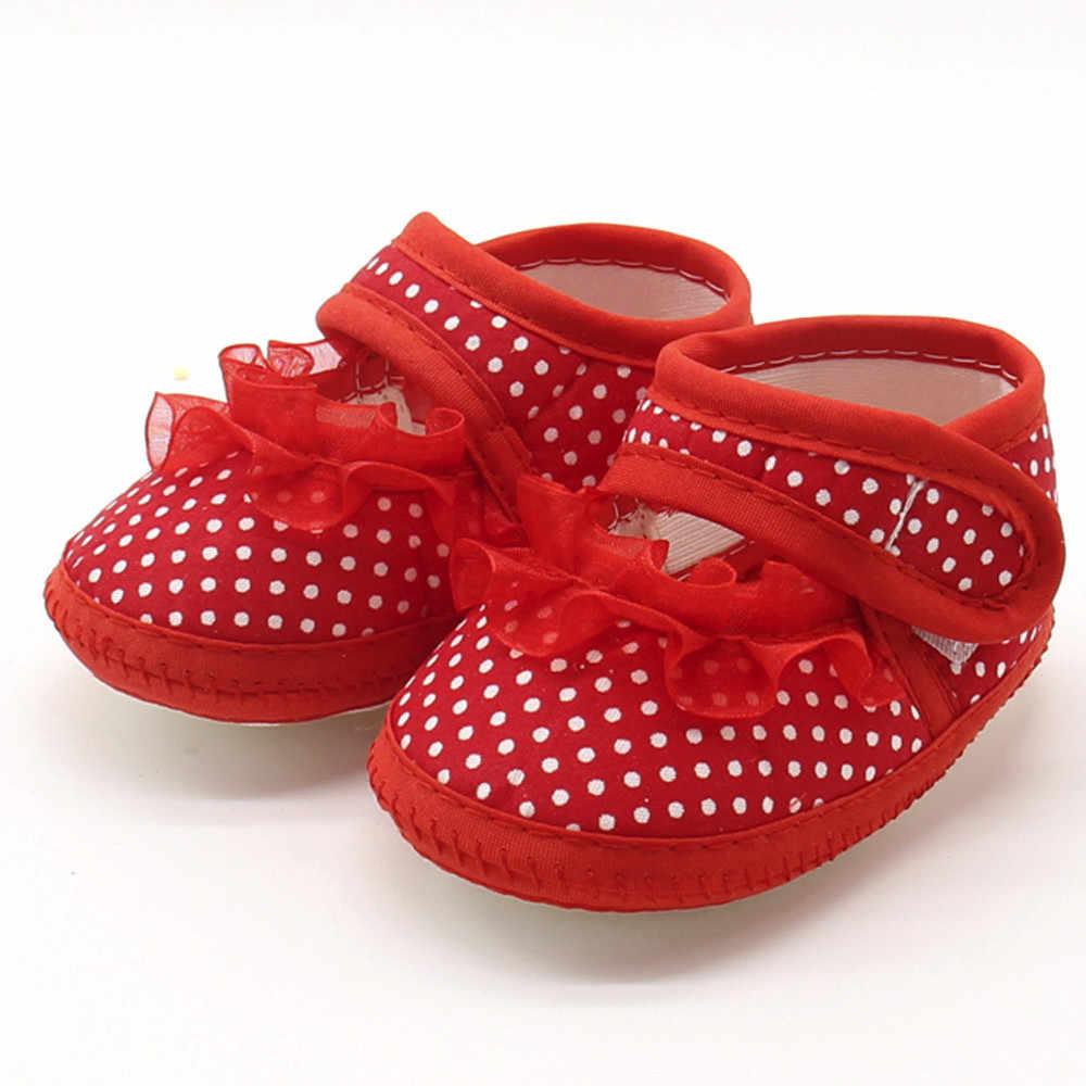 Zapatos de bebé recién nacido bebé punto encaje niñas suela suave Prewalker cálido zapatos planos casuales zapatos de niño bebebek Ayakkabi