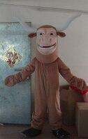 Новый коричневый корова талисман новый костюм Бесплатная доставка/Пользовательские взрослый размер/старший продаж корова талисмана аксес