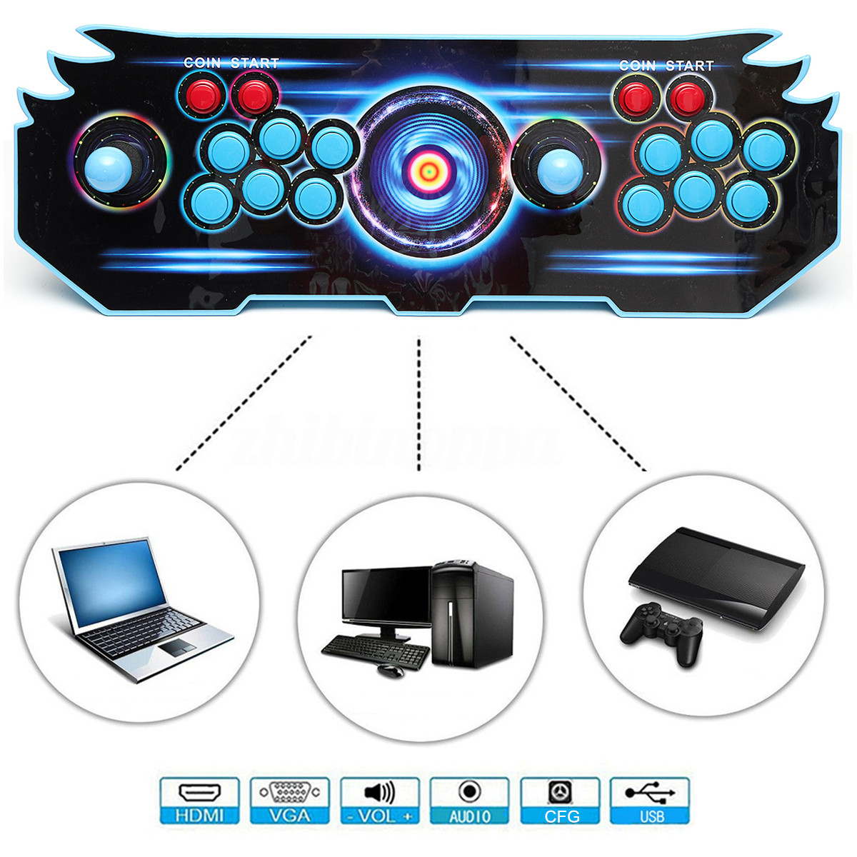 US $125 48 41% OFF|Newest High Definition Classic Video Game Consoles For  Pandora's Box 5S With 1388 Classical Games For Home Party/KTV/Bar-in Video