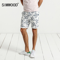 SIMWOOD Shorts Men Casual 2017 Summer New Cotton Birds Brand Clothing High Quality Fashion Slim Fit