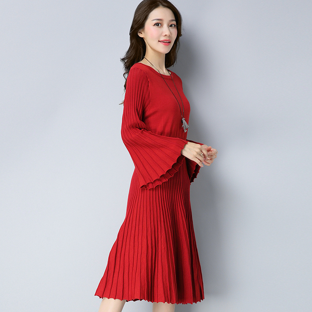 2017 new Winter knitting dresses 4a5c54078197