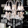Современные хрустальные люстры с ангелом для гостиной  современные лампы  светодиодное освещение