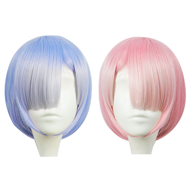 Graduated Color REM Cosplay Wig Or RAM Cosplay Wigs Re ...