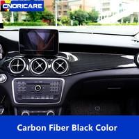 Carbon Fiber Color Center Console Air Conditioner Panel Frame Decoration Cover For Mercedes Benz GLA X156 CLA C117 2013 18 LHD