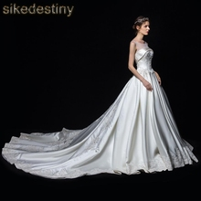 sikedestiny Wedding Dresses 2018 Vestidos de novia O Neck