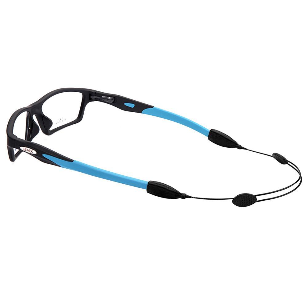 2Black and 2Blue Glasses Strap,YMWALK 4 Pcs Safety Glasses String,Universal Fit Rope Sports Glasses String Adjustable Eyewear Strap Eyewear Holder Glasses Holder Lanyards for Men Women