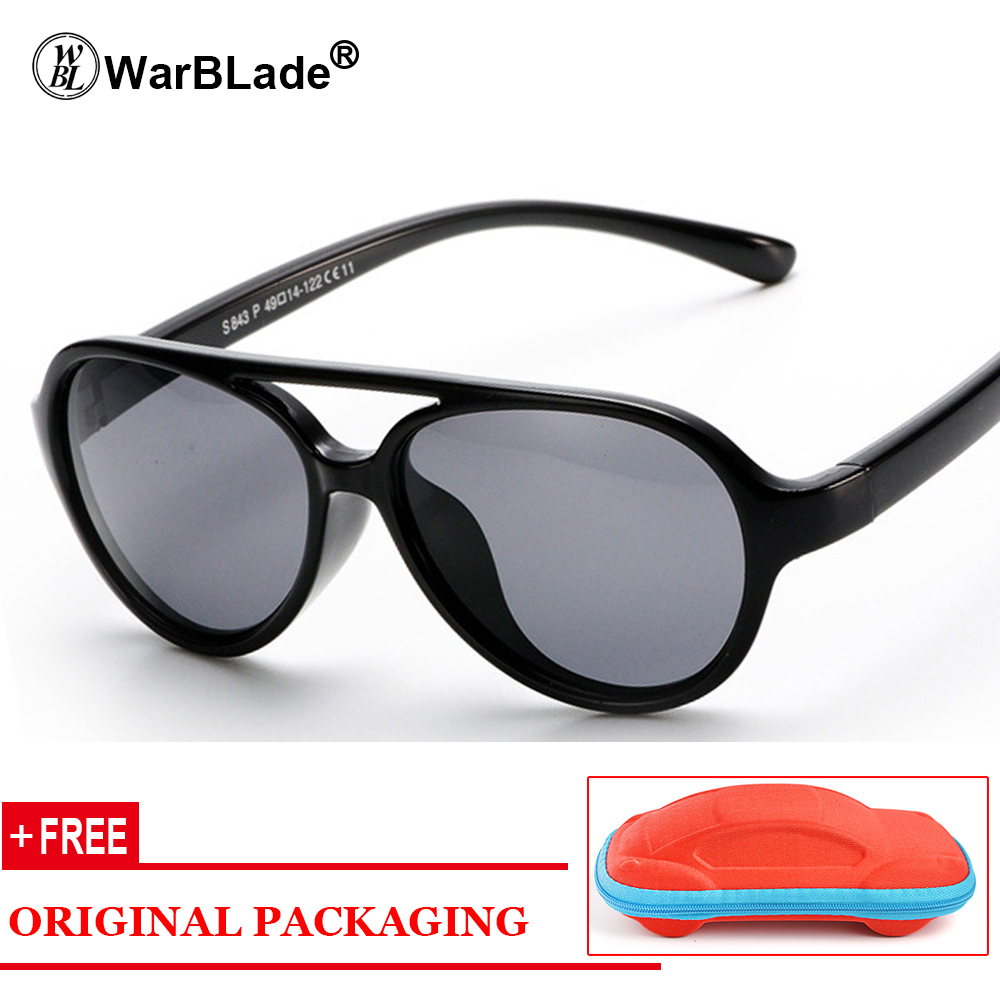 11 Color Kids Sunglasses Brand Polarized Safety Boys Girl Design Children Lovely Glasses UV Protection Oculos Infantil With Case