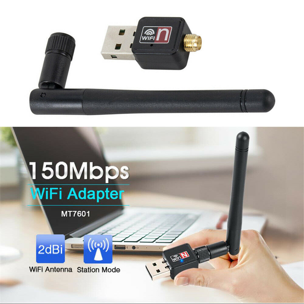 WIFI Dongle 300Mbps Wireless USB Adapter Cordless With Antenna For PC Notebook